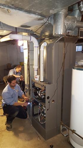 Jason & Matt installing a furnace