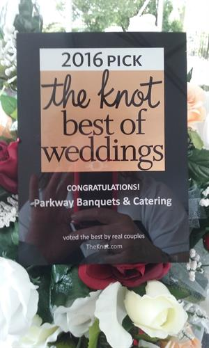 Parkway Banquets wins another award from The Knot!!  www.theknot.com