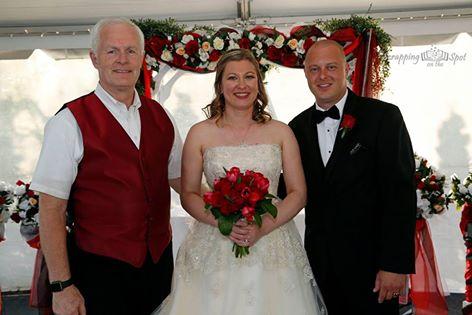 Parkway Banquets - Bride & groom & Parkway's owner, Jerry