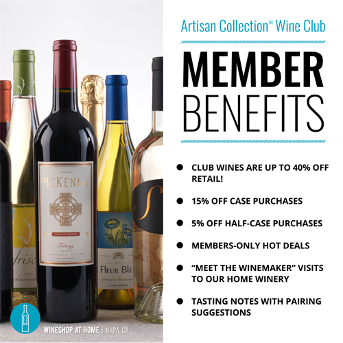 Amazing Member benefits when you join the Wine Club . Ask me for more details!