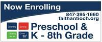 Faith Lutheran School Registration for 19-20 School Year Open thru 8/3/19!