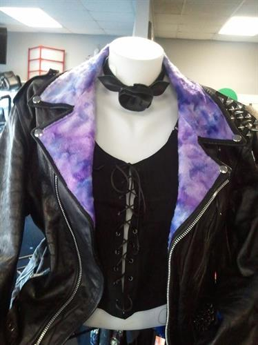 Faux Fur Added to Leather Jacket