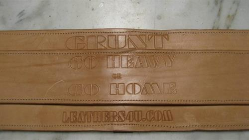 Custom Weighlifter Belt