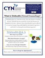 CYN Counseling Center offers Telehealth Services during Covid-19