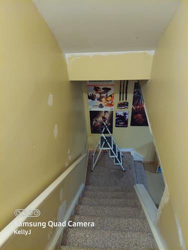 Stairway before
