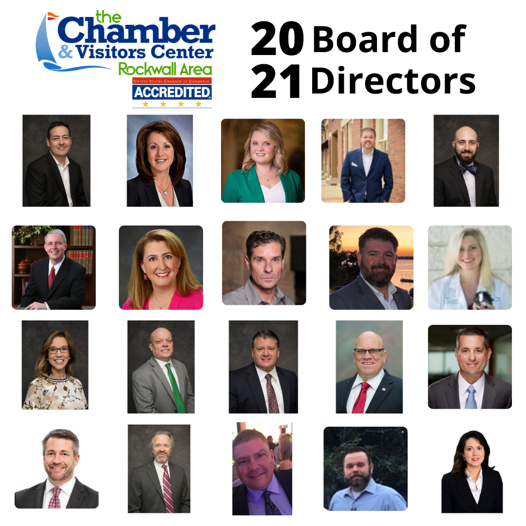 Rockwall Area Chamber of Commerce Announces 2021 Board of Directors