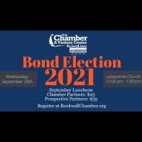 Rockwall ISD Bond Presentation & Rockwall County TRIP2021 Transportation Bond Presentation