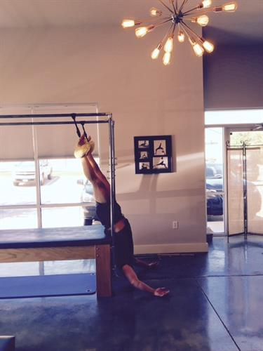 Come in and hang out with us.  Pilates feels amazing!