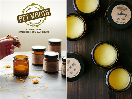 House made Balms & Salves for dogs.
