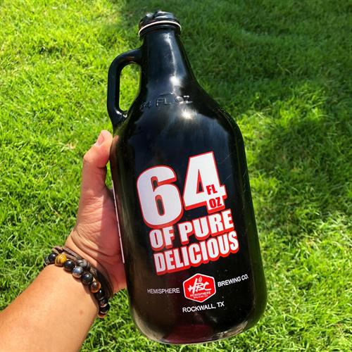 64 ounce Growler to go.