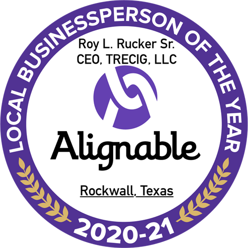 2020-2021 Alignable Rockwall Local Business Person of the Year (Roy L. Rucker Sr)