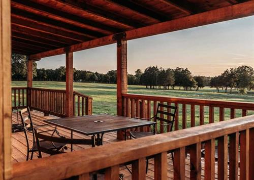 Take in the views on a cabin deck