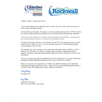 Message from Rockwall Chamber CEO &  Board Chairman