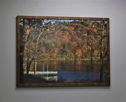 This is a 31x42 framed photo. We have many more frames to make one for you.