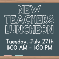 New Teacher's Luncheon