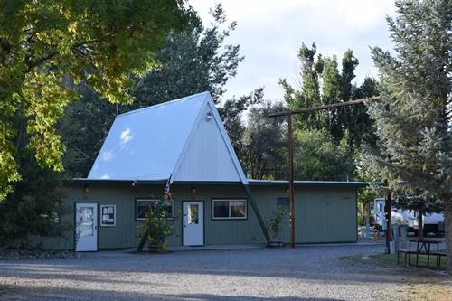 The RV Park office building houses the reception, laundry and restrooms.