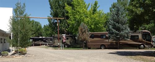 Our RV Park can accomodate travelers in large coaches as well as smaller campers and tents.
