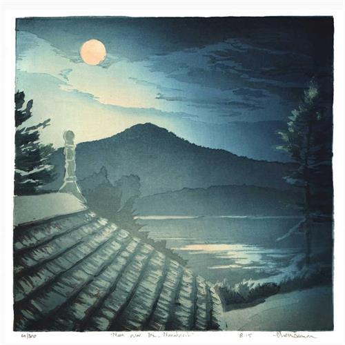 Moon over Mt. Monadnock (Matt Brown)
