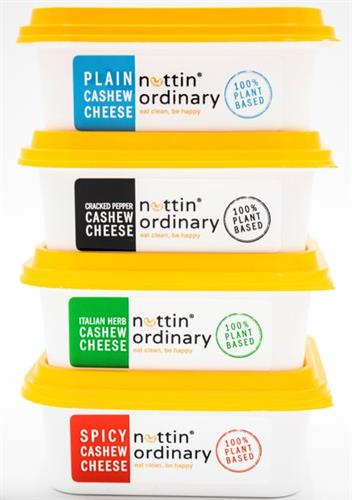 Four flavors of DELICIOUS Dairy-Free Plant-Based Cream Cheese