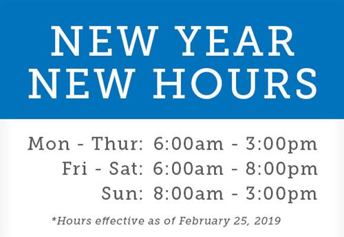 ANNOUNCING new hours of operation begin Monday, 2.25.19. Evening special event gatherings will continue, including our ever-popular Thursday evening Wine Tastings.