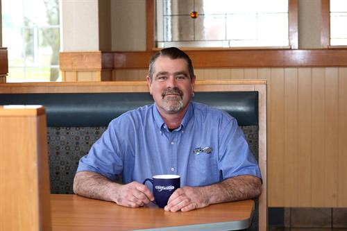 """Welcome"" from Brian Miller, General Manager at the Blue Spoon Cafe."