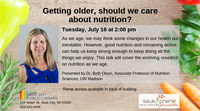 Getting older, should we care about nutrition?
