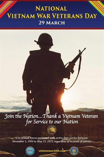Vietnam Veterans Day, March 29th, 2018