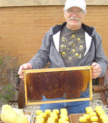 Tom brings his honey, when available.