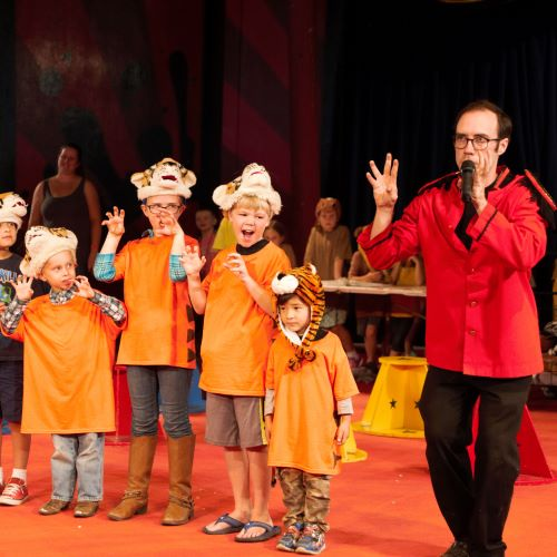 Kids World Circus... where kids create their own circus performance.