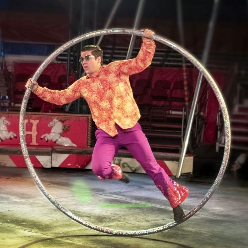 The incredible Ivan and his Cyr Wheel.