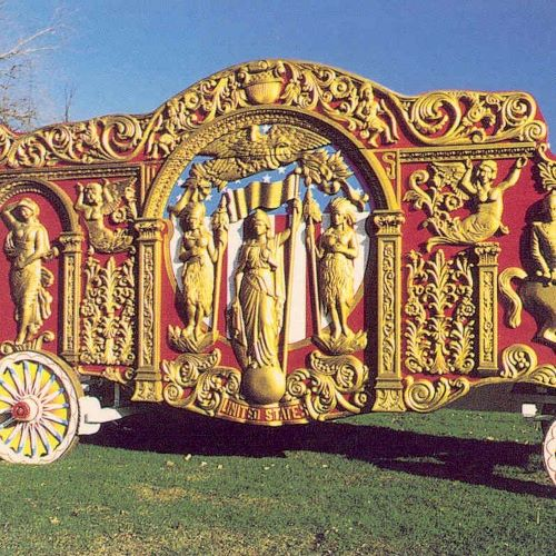 The spectacular Ringling Bros. United States Tableau... just one of many beautiful wagons.