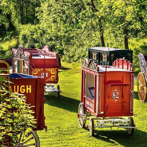 Just a few of over 250 circus wagons in our collection.