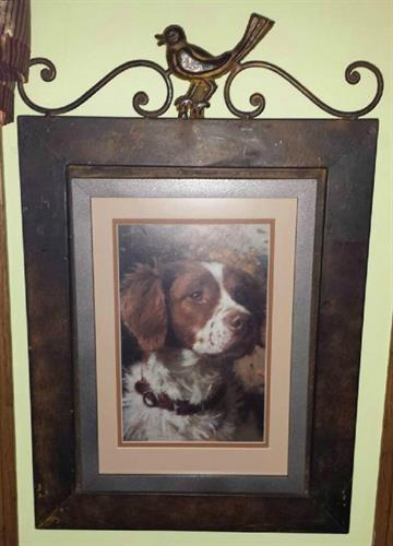Dog with Fancy Frame and Mat