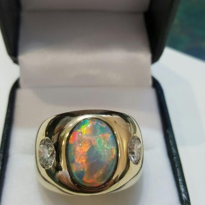 Diny's Custom Opal Ring