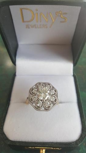 "Diny's Custom ""Vintage"" Engagement Ring"