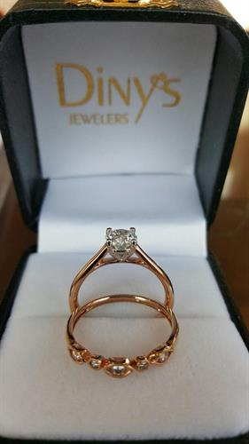 Diny's Custom Rose Gold Solitaire