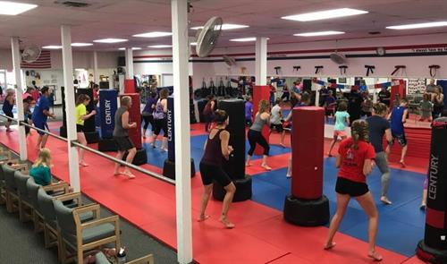 We offer an amazing Cardio Kickboxing program for teens and adults and your first class is always FREE to try!