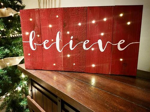 LED Believe Sign