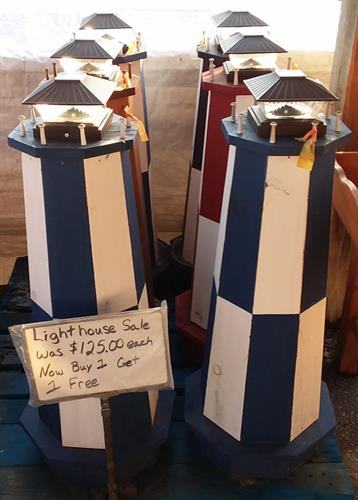Solar lighthouse $125