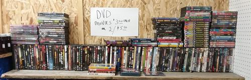DVDs 2 for $5 or $3 each.