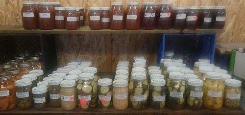 Amish canned jams, jelly, pickles, salsa & more.