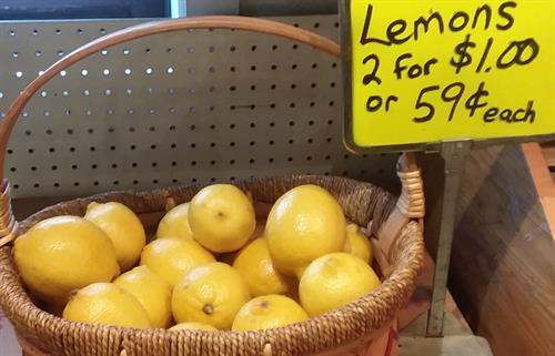 Lemons 2 for $1.00 or $.59 each