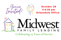 Midwest Family Lending, an Urbandale-Based Mortgage Company, Celebrating 25 Years of Service with Open House on 10/28 from 4-6:30 p.m.