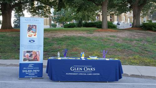 Glen Oaks Booth for the 2016 Walk to End Alzheimer's