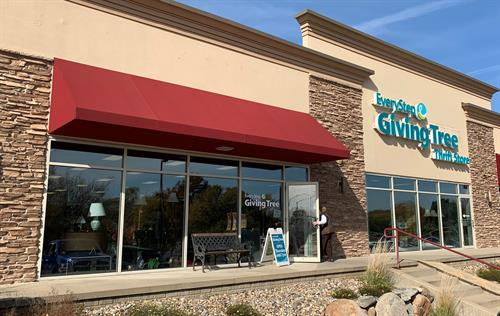 EveryStep Giving Tree thrift store is located at 3330 100th Street in Urbandale, across the street from the Urbandale Post Office.