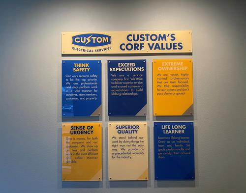 Our core values!