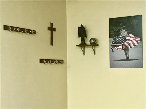 A corner dedicated to our servicemen and women, and our country