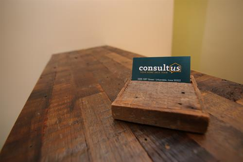 Our custom barn wood countertop by Iowa Barn Door and Decor