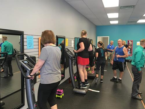We have exercise programs that you can do with chronic back, knee or other pain and find relief