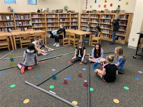 Waukee students send their Edison robots through obstacle courses